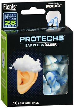 Flents Protechs Ear Plugs Sleep - 10 Pair, Pack of 4