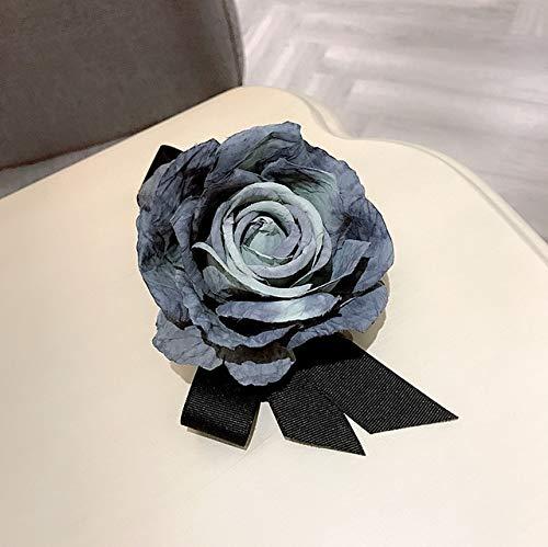 XZFCBH stof kunst grote stof bloem boog broche sieraden speld overhemd pak leuke corsage voor hoofdtas hoed vrouwen accessoires