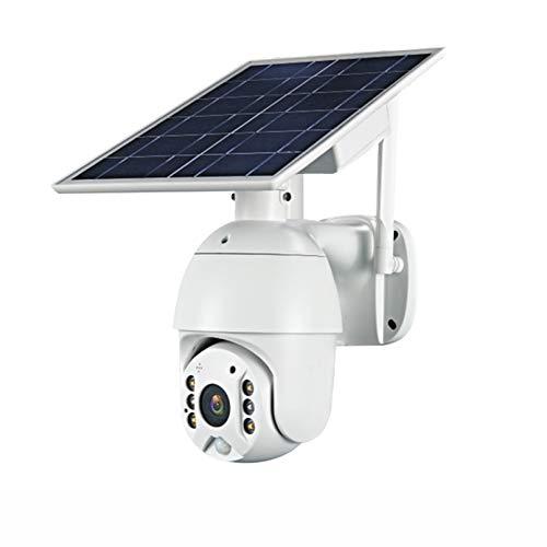 ZJ 4G SIM 1080p HD Panel Solar De HD Vigilancia Al Aire Libre Impermeable WiFi IP Cámara Inteligente Hogar De Dos Vías Voz Intrusión Alarma Monitor De Seguridad(Color:4G Camera with 32G)