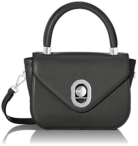 Marc Cain Damen Shoulder Bag Schultertasche, Schwarz (Black), 8x17x22 cm