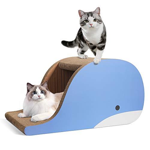 ComSaf Kratzbaum für Katzen, groß, Wellpappe, extra groß, Katzenkratzsofa, Bett, Lounge, Katzenkratzkissen, Haus für Katze, Kätzchen als Möbelschutz