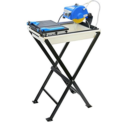 "Stark Professional 7""-inch Ceramic Tile Saw with Stand Blade and Guide Machine Wet Tile Cutter Set"