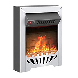 Famgizmo 1800W Fireplace Electric Fires, FreeStanding/Insert Type,Real Coal and Realistic Flame Effect,7 Day Programmable Remote Control