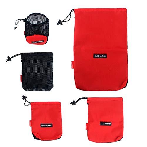 Toygogo - Juego de 5 bolsas de viaje para camping, ducha, baño y cosméticos