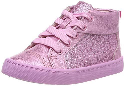 Clarks Mädchen City Oasis HT Hohe Sneaker, Pink (Pink Sparkle Pink Sparkle), 23 EU