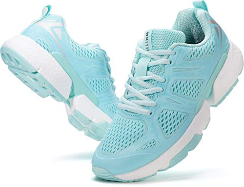WHITIN Damen Laufschuhe Straßenlaufschuhe Traillaufschuhe Laufschuh Sportschuhe Turnschuhe für Frauen Mädchen Laufen Trailrunning Trail Running Fitnesschuhe Turnschuh Trekking Schuhe Blau gr 39 EU