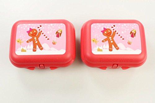 TUPPERWARE To Go Twin pastellorange (2) Lebkuchen Brotdose Box Behälter Größe 2