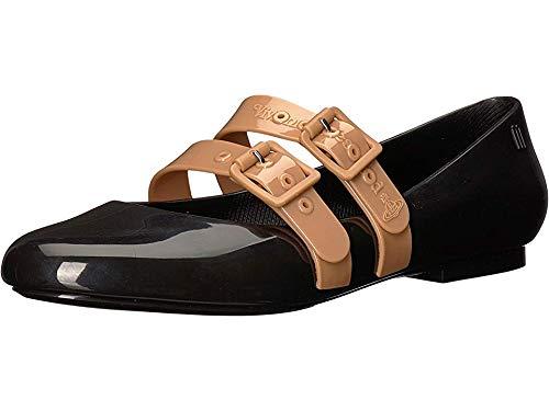 + Melissa Luxury Shoes Women's x Vivienne Westwood Anglomania Doll Flat Black/Beige 6 B US