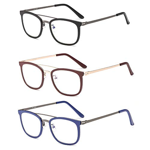 Suertree 3pcs Brille Anti Blue Light Lesebrille Federscharnier Computer Lesebrillen Anti Glare Brillen JH190 2.5X