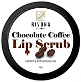 Rivona Naturals Chocolate Coffee Lip Scrub for Lightening, Brightening and Healing Lips, Tan Removal...
