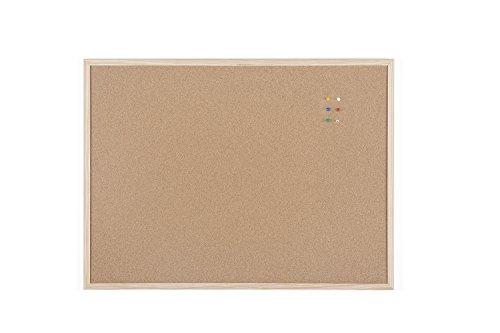 Bi-Office Korktafel / Pinnwand mit Holzrahmen- 5 Größen wählbar - 80 x 60 cm