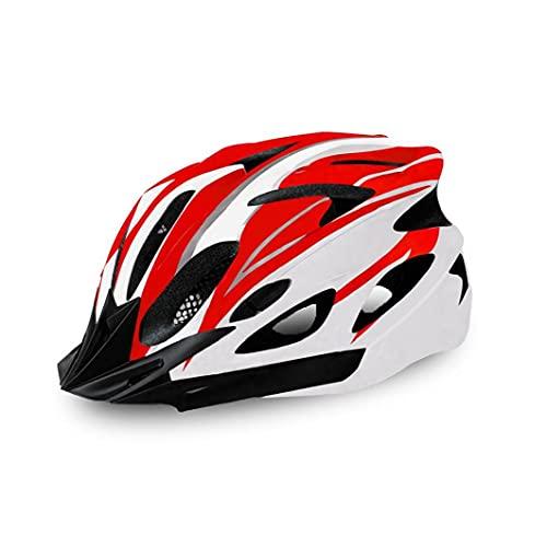 Caschi per bici per adulti DONNE DONNE DONNA GIOCATORE BICICLETTA GIOCATORE MONTAGNA GILLING HELTO REGOLABILE PER Sport all'aperto (rosso e nero)