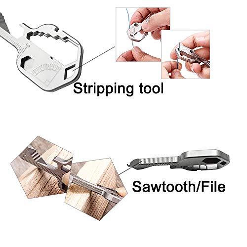 Topteng 24-in-1 Snowflake Multi Tool, Bike Ski Multi Tool Key Shaped Pocket Tool EDC Snowflake Wrench,Fixing Bicycle