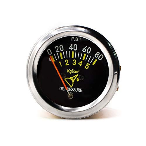 Dhmm123 Digital 12 v 52mm 2 Zoll Auto Mechanische Auto Öldruckanzeige 0-80 Psi Auto Öldruckanzeige Manometer Spezifisch
