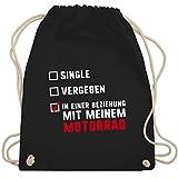 Shirtracer Motorräder - Single Vergeben Motorrad - Unisize - Schwarz - WM110 - Turnbeutel und...