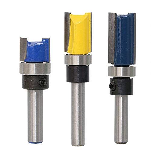 Wood Milling Cutter, WCIC 3Pcs/Set 1/4