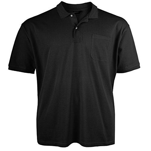 Redfield Poloshirt Piqué surdimensionné Noir Wowerat0014, 2xl-10xl:8XL