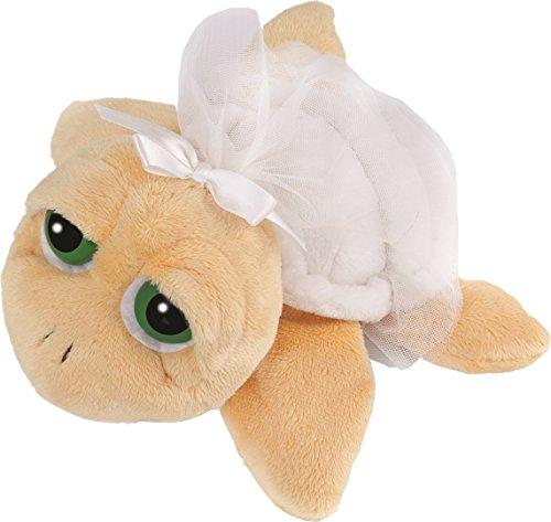 Lil\'Peepers 14186 - Suki Stofftier Schildkröte Pebbles als Braut gelb mit weissem Panzer, Schleife und Schleier, 15.2 cm, gelb