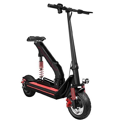 FUJGYLGL Adulto pequeño portátil Scooter eléctrico, Cuerpo de aleación de Aluminio, Plegable, de Litio con Pilas, Peso Ligero, Alta absorción de Choque elástico