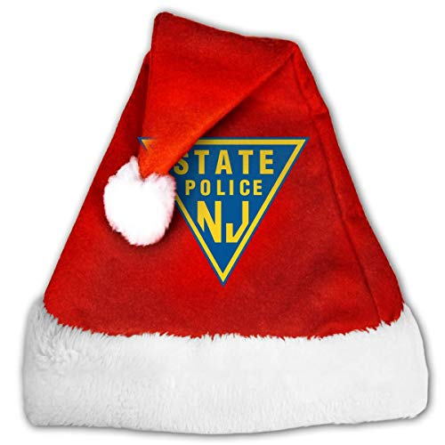Plüschkrempe Santa Claus Mütze,Rote Santa Mütze,Nikolausmütze Plüsch Hut,Roter...