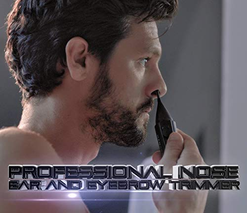MANGROOMER New Advanced Professional Plus+ Nose, Ear Hair & Eyebrow Trimmer With Bonus Light & Trimming Comb!