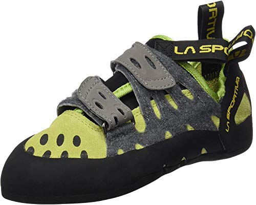 La Sportiva Men's Climbing Shoes, Unisex-Adult, Tarantula, Green/Grey, 8
