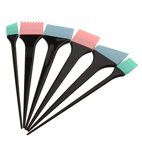 Colcolo Cepillo para Colorear Profesional de 6 Piezas Hecho de Silicona, Cepillo para Teñir El Cabello para