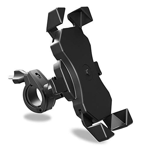Bike Phone Mount, BAVNCO 360° Rotation Adjustable Bicycle Motorcycle Universal Detachable Phone Mount Holder for iPhone 11 MAX XR X 8 7 6S Plus/Samsung Galaxy S10 S9 S8 Plus Note 10 8/ LG More(Black)