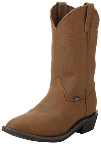 Justin Boots Men's Farm and Ranch Boot Medium Round Toe Rubber Utility...