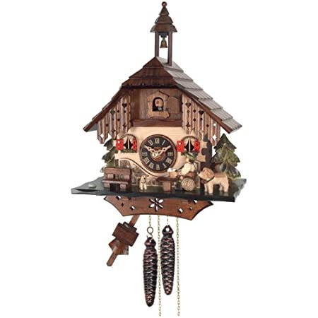 River City Clocks One Day Cottage Cuckoo Clock Beer Drinker Raises Mug Home Kitchen
