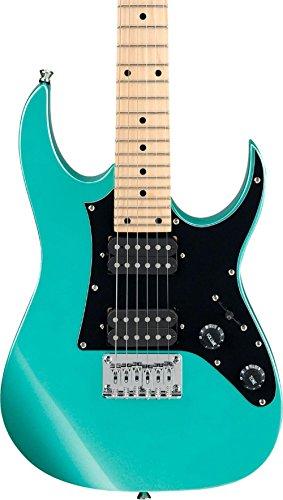 Ibanez GRGM 6 String Solid-Body Electric Guitar, Right, Metallic Light Green (GRGM21MMGN)