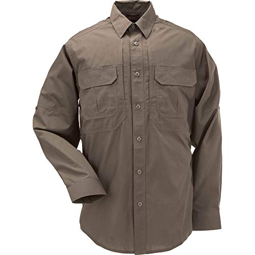 5.11 Tactical Series Taclite Pro Shirt Long Sleeve Chemise Homme, Tundra, FR (Taille Fabricant : 2XL)