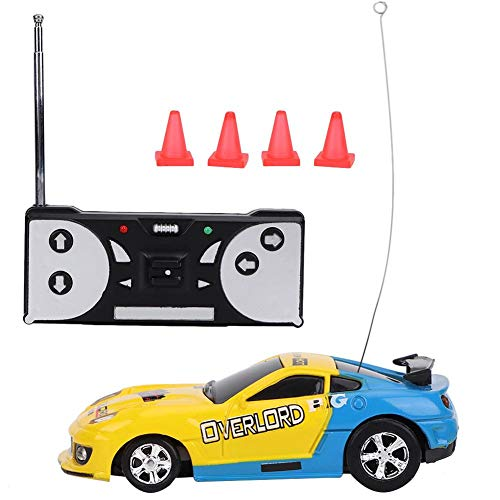 VGEBY1 Remote Control Car, Simulated Electric RC Car Mini Remote Control Vehicle Sport Racing Toy Kids Gift(Yellow-Blue) -  VGEBYt6badzexwp-01