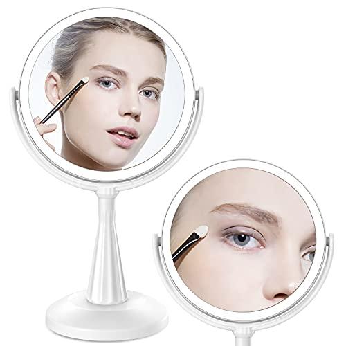 KOOLORBS Makeup Mirror with Lights, 3 Color Lighting,...
