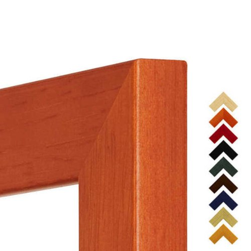Bilderrahmen Holz Prato in Orange 24x30 cm mit Kunstglas mit Rückwand - verfügbar in 17 Formaten & 10 Farben.