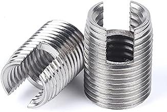 5/10/20pcs M2 Naar M12 Gegalvaniseerd Rvs Schroefdraad Inserts Metalen Draad Reparatie Insert Zelftappende Sleuven Schroef...