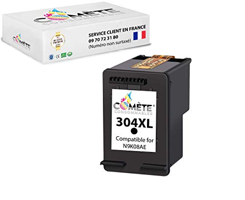 COMETE 304XL - Cartuchos de tinta compatibles con HP 304 XL para HP Envy 5010 5020 5030 5032 Deskjet 2620 2622 2630 2632 2633 2634 3720 3730 3733 3735 3750 3760 3762 3764 (1 negro)
