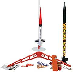 The is quick and easy to assemble, This huge rocket, standing 30in tall, can reach heights over 650 feet with recovery on a colorful 18 inch preassembled parachute The Crossfire can easily be built in about a day and features a totally streamlined sh...