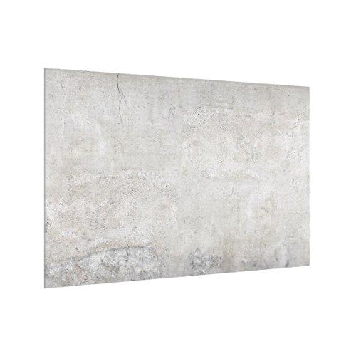 Bilderwelten Spritzschutz Glas - Shabby Betonoptik 59cm x 90cm Küchenrückwand