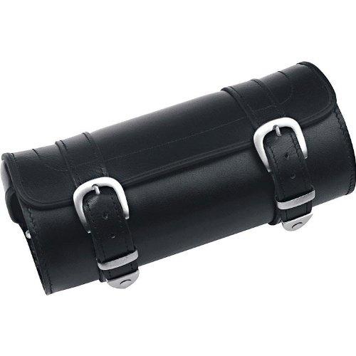 QBag Hecktasche Motorrad Motorradtasche Kunstlederwerkzeugrolle 07, formstabil, universelle Befestigung, aus pflegeleichtem, widerstandfähigem u. wetterfestem Kunstleder für eine lange Haltbarkeit, Schwarz, 3 Liter