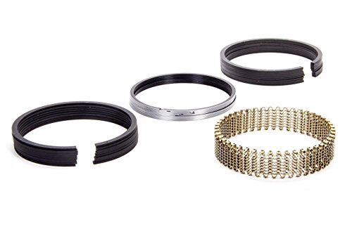 Piston Rings, 4.000 in Bore, 5/64 x 5/64 x 3/16 in Thick, Standard Tension, Iron, 8 Cylinder, Kit