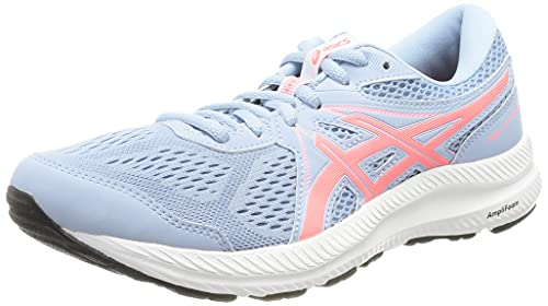 Asics Gel-Contend 7, Zapatillas para Correr Mujer, Mist/Blazing Coral, 39 EU