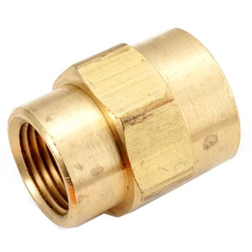 ANDERSON METALS 756119-0804 1/2 x 1/4 Brass Bell Reducing Coupling by Anderson Metals