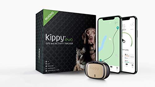 Kippy - Kippy EVO - Das Neue GPS und Activity Monitor für Hunde und Katzen, 38 gr, Waterproof, Batterie 10 Tage, Brown Wood