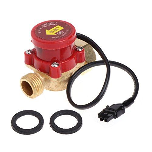 SUCHUANGUANG 220V 60-90W Conector de Rosca Macho G1 / 2 Bomba de circulación Interruptor de Sensor de Flujo de Agua Interruptor de lámpara