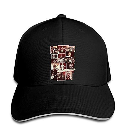 Baseball pet Trick Rock Band All Alright Sepia Fotocollage Volwassen baseballcap snapback hoed Piek