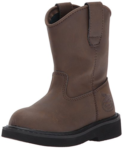 Georgia Boot unisex child G099 Mid Calf Boot, Brown, 1 Little Kid US