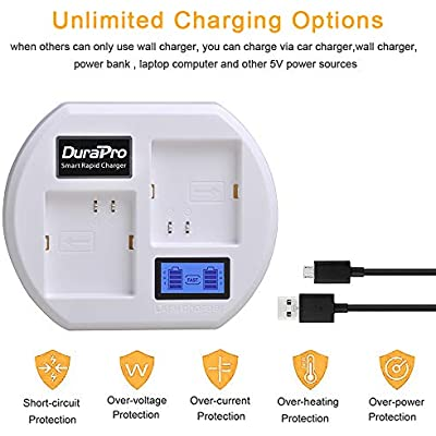 DuraPro Rapid Charging Station Battery Charger with LCD Displays for Arlo Pro 2