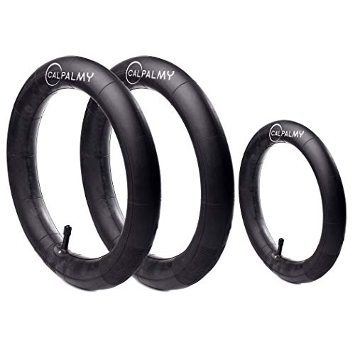 16'' Back and 12.5'' (2+1) Front Wheel Replacement Inner Tubes   Compatible with BoB Stroller Tire Tube Revolution SE/Pro/Flex/SU/Ironman - Made from BPA/Latex Free Premium Quality Butyl Rubber