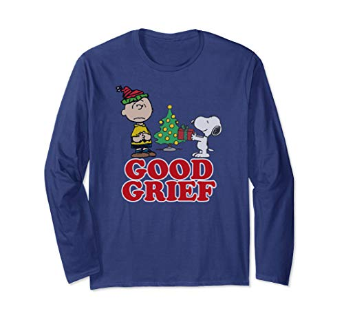 Peanuts Good Grief Charlie Brown Holiday Long Sleeve T-Shirt